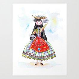 MARIA FROM NAZARÉ Art Print