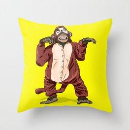 Monkey Onesie Throw Pillow