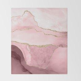 Blush Marble Art Landscape Throw Blanket