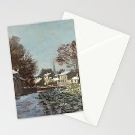 Snow at Argenteuil Stationery Cards