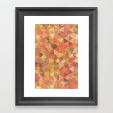 Triangle Pattern III Framed Art Print