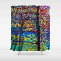 chaos Shower Curtains featuring Chaos by Claire Doherty