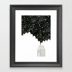House in the Night Framed Art Print