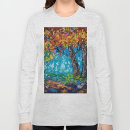 SUNRISE TREE (Palette Knife) Long Sleeve T-shirt