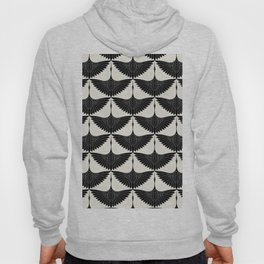 CRANE DESIGN - pattern - Black and White Hoody