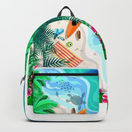 Tropical Beach Aerial Drone View Backpack