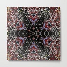metal psychedelic mandala Metal Print
