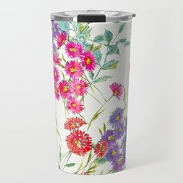 fresh floral spring scatter Travel Mug