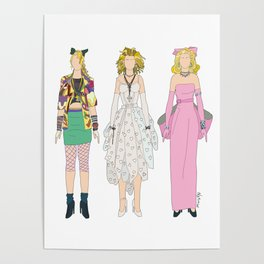 Triple Madge Material Girl Poster