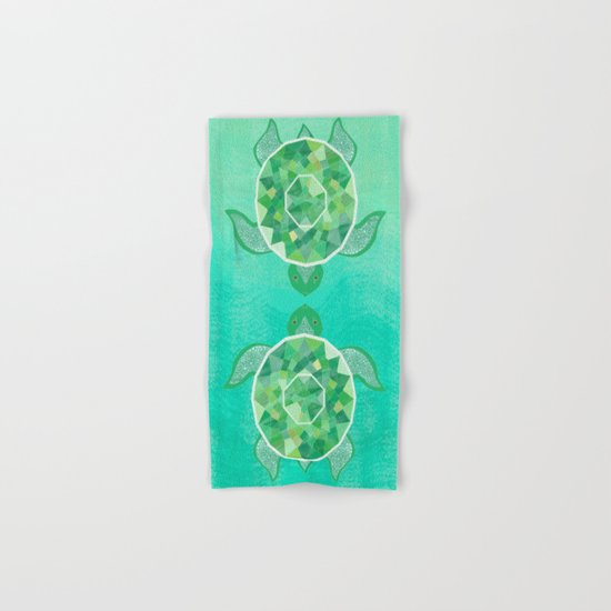 Turtle - Emerald Hand & Bath Towel