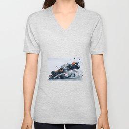 Formula One Crash Unisex V-Neck