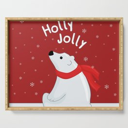 Polar Bear - Holly Jolly Serving Tray