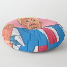 Donald 'Trump' Drumpf:  Con Man, Liar & Crook, & those are his best qualities. Floor Pillow