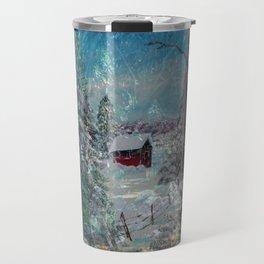 """Cabin In The Snow"" Travel Mug"