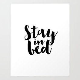 Bedroom Sign Printable Quotes Printable Poster BellaMeDesign Bedroom Art Stay In Bed Napast'ay Art Print