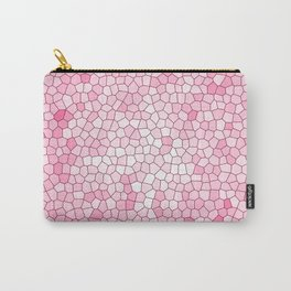 Pretty Pink Mosaic Pattern Carry-All Pouch