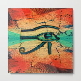 Egyptian Eye of Horus - Ra Metal Print