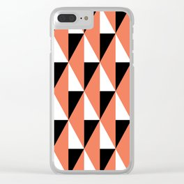 Geometric Pattern 78 (salmon pink triangles) Clear iPhone Case