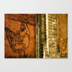 Chickens Chatting Canvas Print