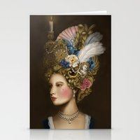 marie antoinette Stationery Cards featuring Marie Antoinette by Stephanie Sanchez