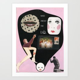 Mad about the IQ Art Print