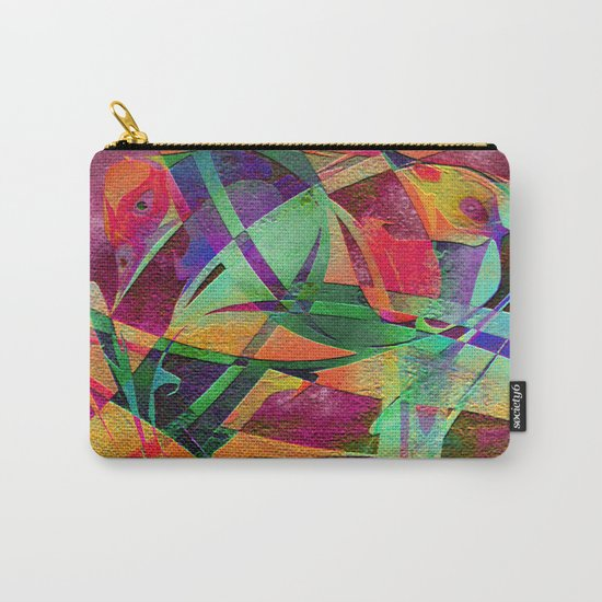 """ Rainbow bird  ""  Carry-All Pouch"
