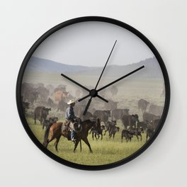 Ranch manager Mark Dunning oversees a roundup at the Big Creek cattle ranch near the Colorado border Wall Clock