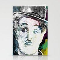 chaplin Stationery Cards featuring Chaplin by Marian - Claudiu Bortan