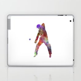 Cricket player batsman silhouette 02 Laptop & iPad Skin