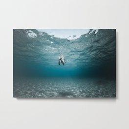 boy swimming mllorca / un garçon nage Metal Print