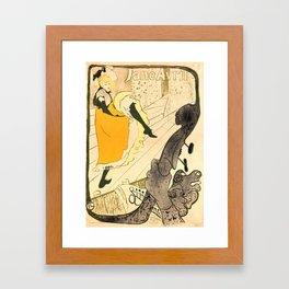 """Henri de Toulouse-Lautrec """"Jane Avril"""" Framed Art Print"""
