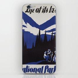 Vintage poster - National parks iPhone Skin