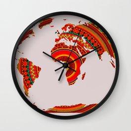 Mandala World Map Wall Clock