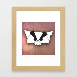 Crabby Cat - white Framed Art Print