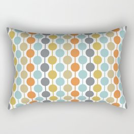 Retro Circles Mid Century Modern Background Rechteckiges Kissen