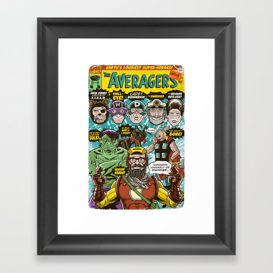 the Averagers Framed Art Print