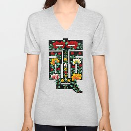 Minhwa of 8 Virtues: Loyalty (Korean traditional/folk art)  Unisex V-Neck