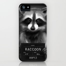 Raccoon Mugshot iPhone Case