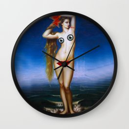 Lady Snake - Digital Collage Artwork Wall Clock