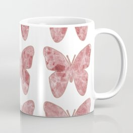 Golden rosy mauve butterflies Coffee Mug