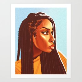 Lovely Locs Art Print