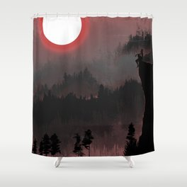 Hunters Moon/Dark Forest Shower Curtain