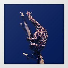 Blue Giraffe In The Tree ?! Canvas Print