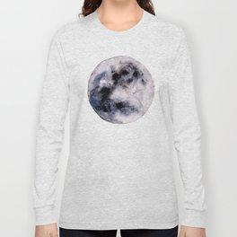 Watercolor moon Long Sleeve T-shirt