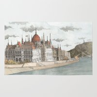 budapest Area & Throw Rugs featuring Budapest, Hungary by rob carey