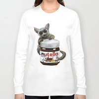 nutella Long Sleeve T-shirts featuring Sweet aim // galago and nutella by Anna Shell