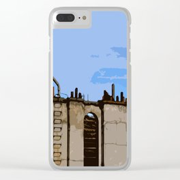 Paris Roofs Clear iPhone Case