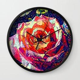 Jeweled Rose Wall Clock