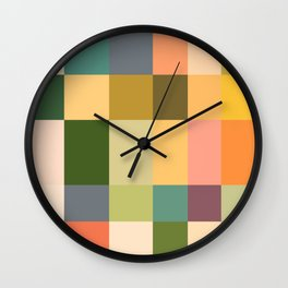 Vintage Checkered Pattern Wall Clock