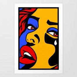 Crying Girl  Art Print